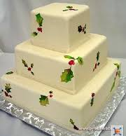 ideas for winter/christmas wedding cake :  wedding christmas winter wedding cake PinkCakeBox%2520xmascake