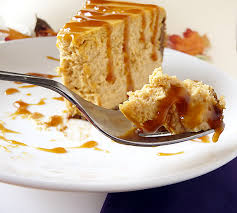 A bite of pumpkin cheesecake