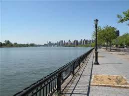 (along the East River) to