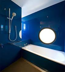 blue luxury bathroom decoration