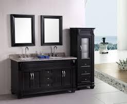 bathroom gorgeous black double sink bathroom vanity set with twin
