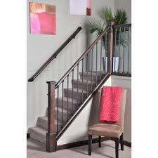 stair simple axxys 8 ft stair rail kit axhsr8b32i the home