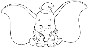 dumbo the elephant coloring pages