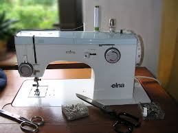 1950s elna supermatic sewing machine w case accessories 722010