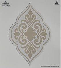 amazon com folkart home decor stencil 34964 ornate damask