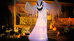 illuminated halloween decorations inflatable fire u0026 ice ghost halloween decoration improvements