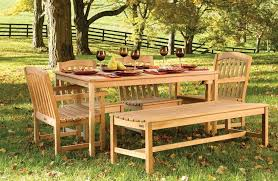 Teak Outdoor Furniture Sale by Outdoor Unfinished Teak Patio Furniture Set Including Long