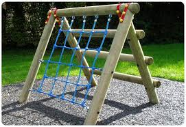 childrens climbing frame playground wooden adventure trail