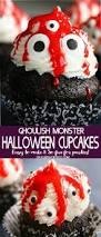 Halloween Cakes Easy by Ghoulish Monster Halloween Cupcakes Kleinworth U0026 Co