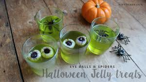 halloween party treats jello eyeballs jelly youtube