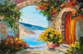 peinture de bord de mer peinture paysage banque d u0027images vecteurs et illustrations libres