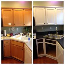 Oak Kitchen Cabinets Refinishing Diy Painted Builder Grade Oak Cabinets White Used Desander Liquid