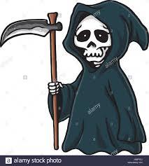 halloween vector art grim reaper cute cartoon skeleton halloween vector illustration