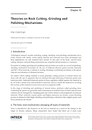 theories on rock cutting grinding and polishing mechanisms