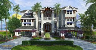 coastal house plans narrow lot luxury beach farmhouse bungalow