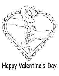 roses valentine s day roses in heart valentines coloring pages