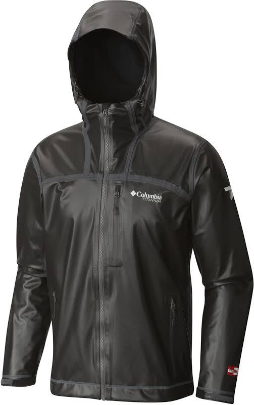 Columbia OutDry Ex Stretch Hooded Shell Jacket Black Medium 171186-010-M