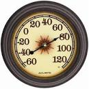 Acu-Rite Starburst 8.5 in. Indoor/Outdoor Thermometer: Patio ...