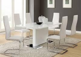elegant silver dining table and chairs pertaining to interior