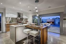 elegant gray kitchen island raised breakfast bar with stools 9015