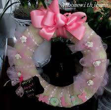 molly u0027s wreath diy welcome baby wreath at home with jemma