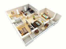 3 Bedroom Apartment Floor Plan 13 More 3 Bedroom 3d Floor Plans Amazing Architecture Magazine