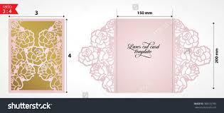 folded invitation stock vector laser cut wedding invitation card template vector die