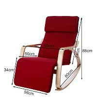 Rocking Chair Recliners Sobuy Relaxing Lounge Rocking Chair With Adjustable Footrest Ebay