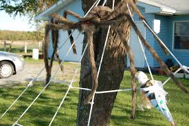 halloween yard decorations diy halloween diy 2 giant lawn spiderwebs