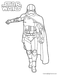star wars u2013 captain phasma coloring page coloring page central