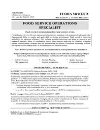 Resume Examples For Food Service by Food Service Resume Template