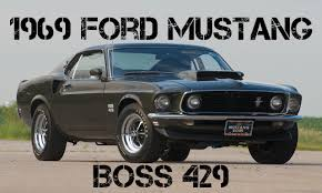 1969 Mustang Black Jade 1969 Ford Mustang Boss 429 With 902 Miles Going Up For Auction