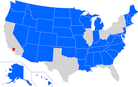 Los Angeles County Map by States With A Smaller Population Than The 10 Million Inhabitants