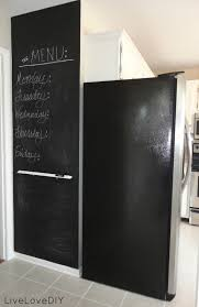 Blackboard Paint For Walls Livelovediy Creative Ways To Update Your Kitchen Using Paint