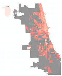 Public Transit Chicago Map by Chicago Commute Map Updated With 2013 Census Data Transitized