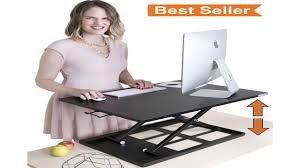 x elite pro height adjustable sit stand desk converts your