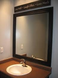 bathroom black framed bathroom vanity mirror ideas bathroom