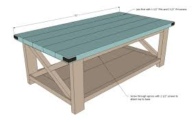 Free Woodworking Plans Round Coffee Table by Ana White Rustic X Coffee Table Diy Projects