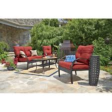 Patio Accents by Anderson 4 Pc Deep Seating Set All Patio Collections Ace