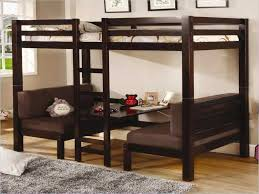 Kids Living Room Living Room Wood Bunk Bed With Desk Underneath Gamifi Pertaining