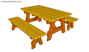 Building Plans For Picnic Table Bench by Picnic Table Designs Free Garden Plans How To Build Garden
