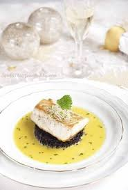 Fine Dining     middot  Sea Bass with Black Rice