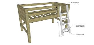 Plans For Building Bunk Beds by Free Diy Furniture Plans How To Build A Twin Sized Low Loft
