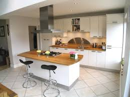white kitchen with oak worktop do you think it looks better with