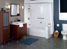 Bath And Shower In Small Bathroom One Day Bath Remodel Chicago Affordable Bathroom Remodeling