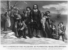 pilgrims on thanksgiving thanksgiving site of pilgrims 1620 plymouth settlement located