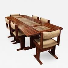 mid century modern danish rosewood ox art tile dining table w 2