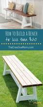 Plans To Build A Storage Bench by Best 25 Build A Bench Ideas On Pinterest Diy Wood Bench Bench