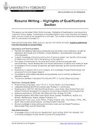 Sample Resume Qualifications List by Resume Skill List Sample
