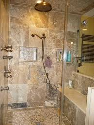 Bathroom Shower Remodel Ideas by Walk In Shower Remodel Ideas Grey White Brown Color Scheme Ideas